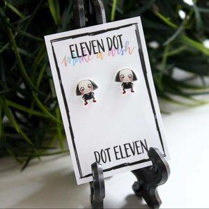 Jewelry - Jigsaw Saw Horror Movie Mask Chibi Stud Earrings